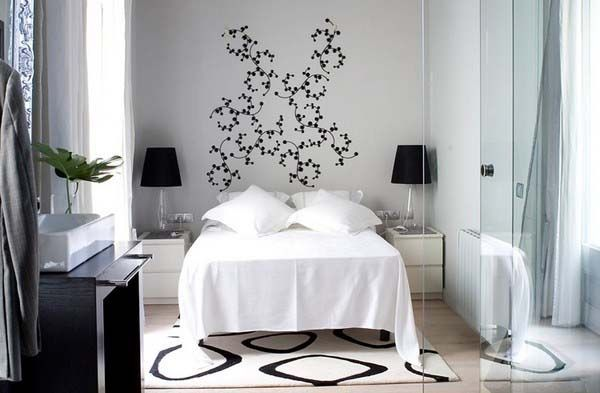 Black and White Interior Design for small space Home Design
