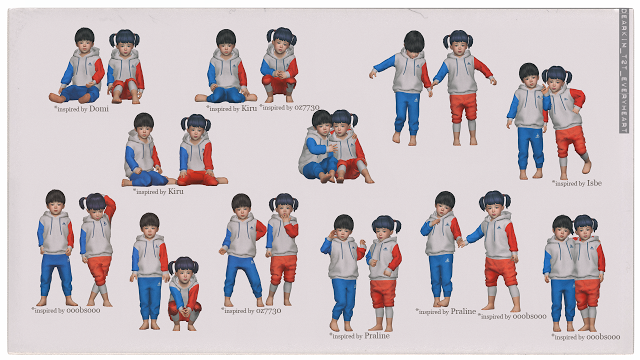 Sims 4 CC's - The Best: Toddlers' pose set by Dear Kim's