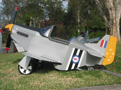 Mustang P51 Pedal Plane Pilots Must Be Aged Between 3 And 8 Years Of Age