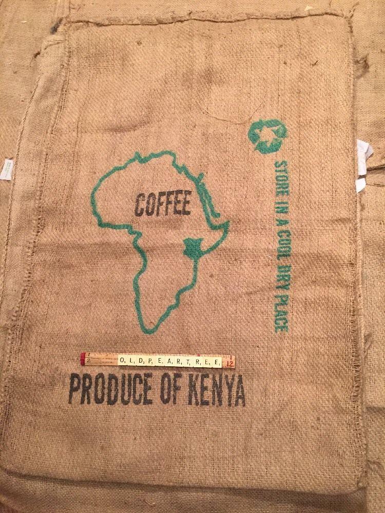 Used Coffee Beans Sacks x 2 Kenya Cafe Chair Garden Seating