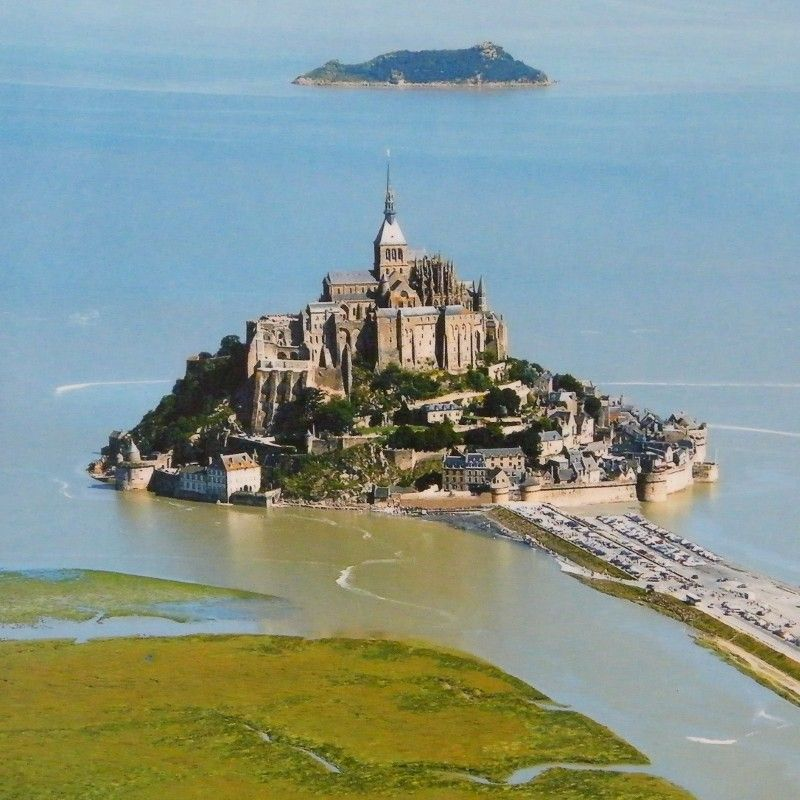 Mount St.Michel In France At High Tide.