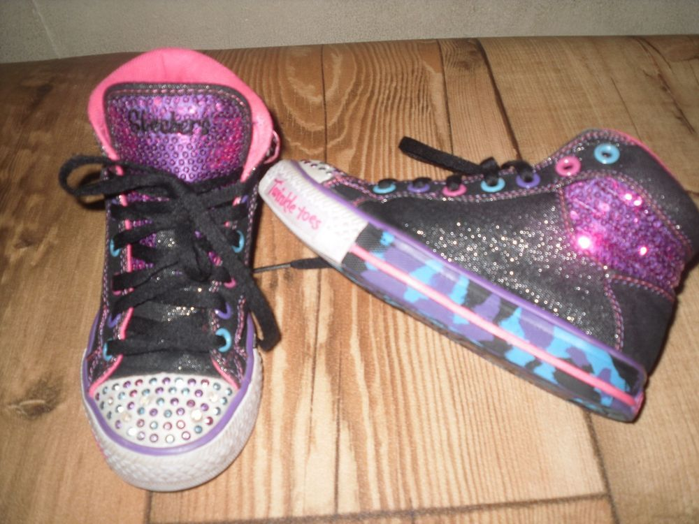Skechers Twinkle Toes 11 5 Little Girls Light Up High Top Sneakers