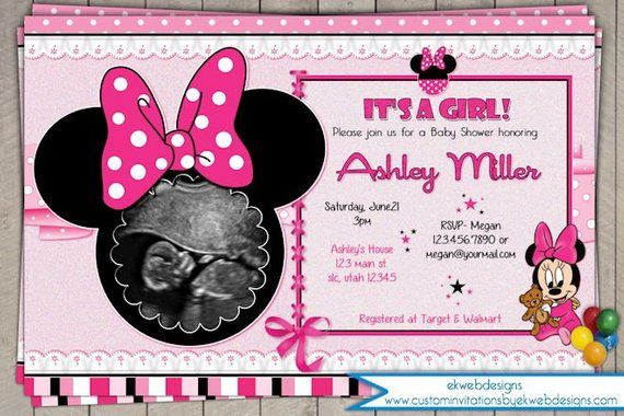Minnie Mouse Baby Shower Invitation Printable File Custom It S A