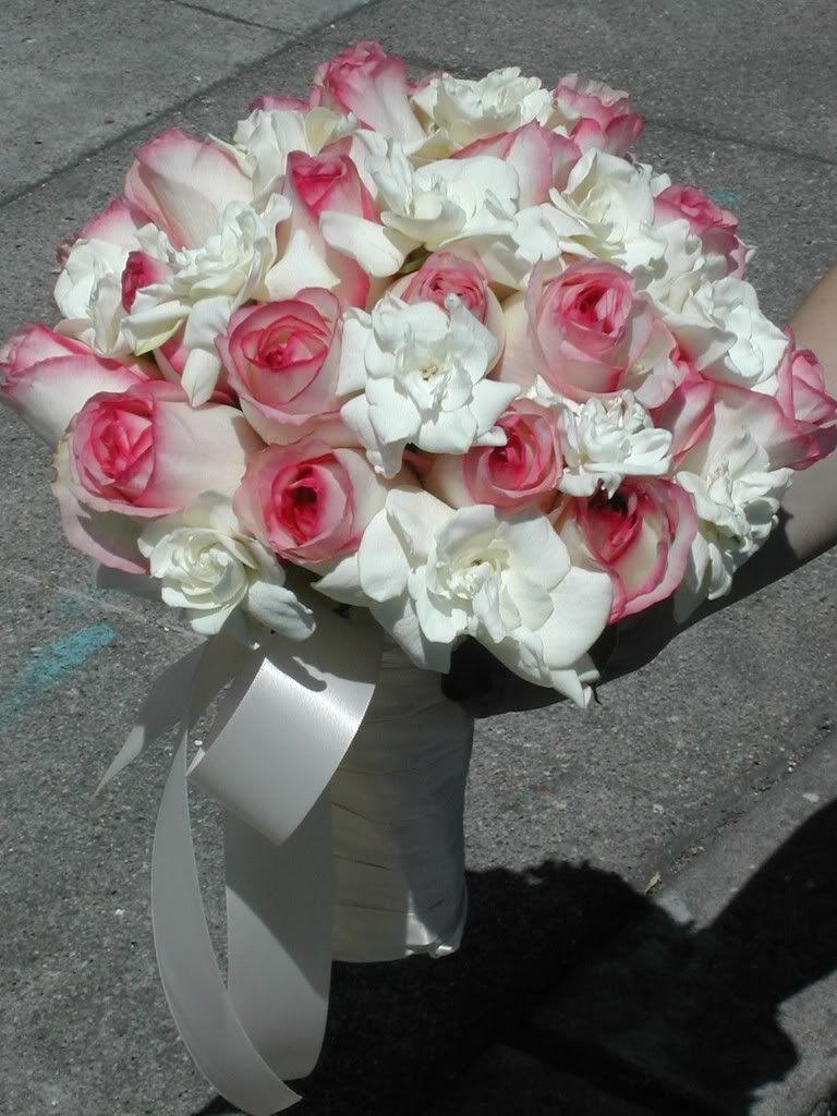 Gardenia Pink Rose Bouquet Photo Bouquet Gardenia Pink Rose1 Jpg
