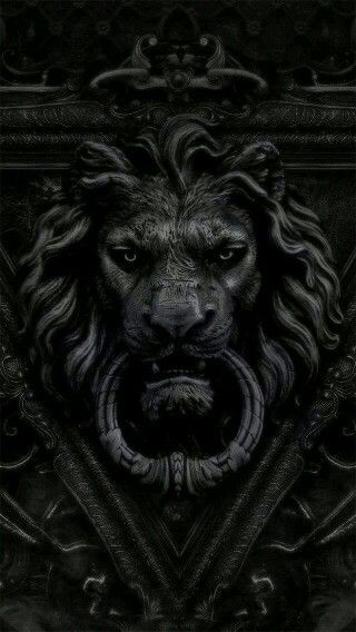 Black Lion Knocker Wallpaper Iphone Black Wallpapers Pinterest