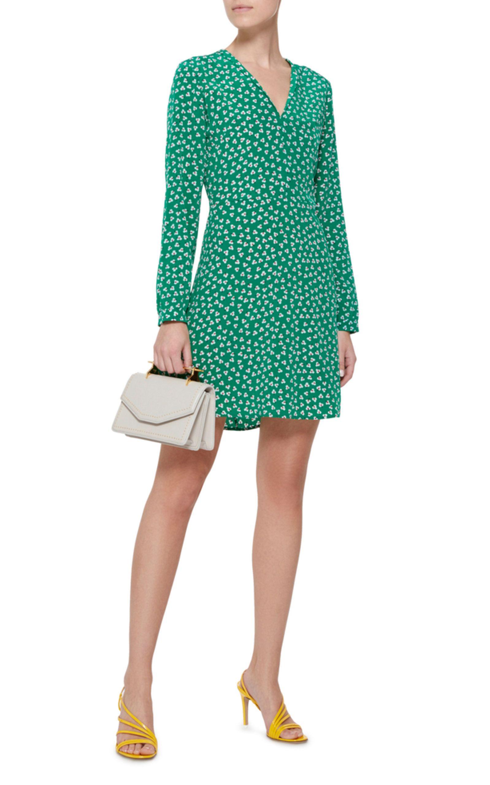 Lou Printed Silk-Crepe Mini Dress HVN BRFThOO