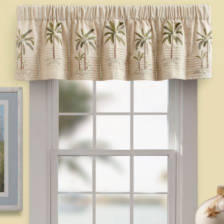 29 99 Palm Tree Window Valance Croscillsocial Tropical Home Decor Pretty House Tree Curtains