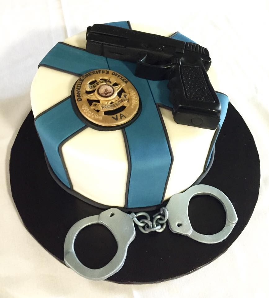 Police Officer Groom S Cake Www Kittiskakes Com