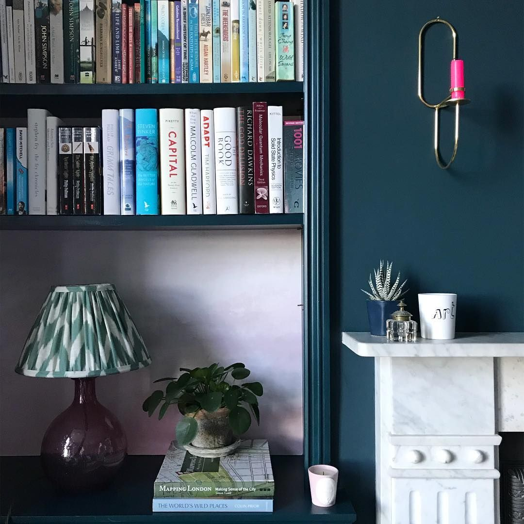Farrow Ball Hague Blue And Pink Paint Color Scheme Living Room