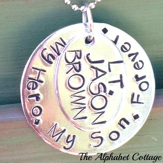 My Hero My Son Military Remembrance Necklace by TheAlphabetCottage, $23.00