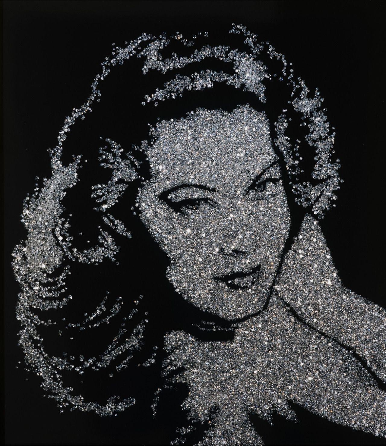 Vik Muniz (Brazilian, b. 1961) Ava Gardner (From Pictures of Diamonds), 2005