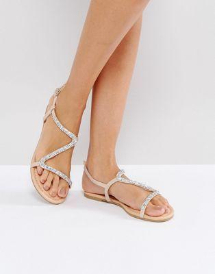 ebca81b48e0 ASOS FREYA Embellished Flat Sandals. Discover Fashion Online Gold ...