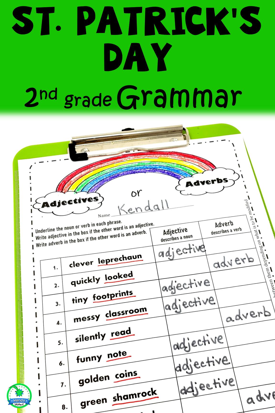 St Patrick S Day Grammar Worksheets For Second Grade Writing Lesson Plans Teacher Lesson Plans Grammar Worksheets [ 1728 x 1152 Pixel ]