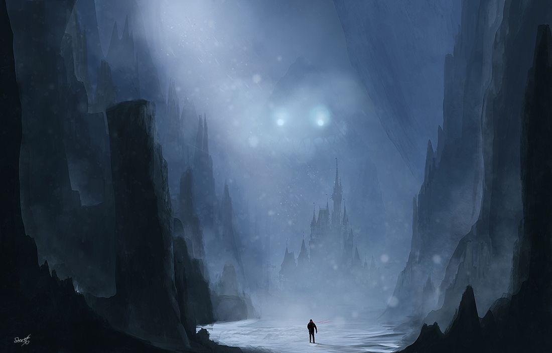 Snowy Night By Secr3tdesign Deviantart Com On Deviantart Game Concept Art Digital Artwork Concept Art