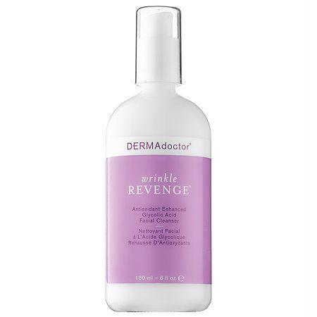 Wrinkle Revenge® Antioxidant Enhanced Glycolic Acid Facial Cleanser - DERMAdoctor | Sephora