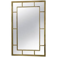 Double Border Brass Frame Mirror