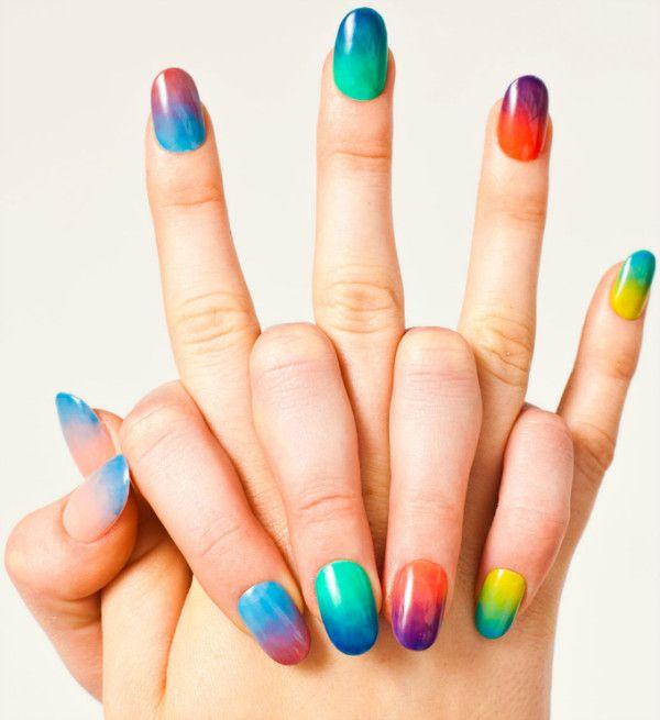Decoración De Uñas De Porcelana Uñas De Colores Uñas Uñas