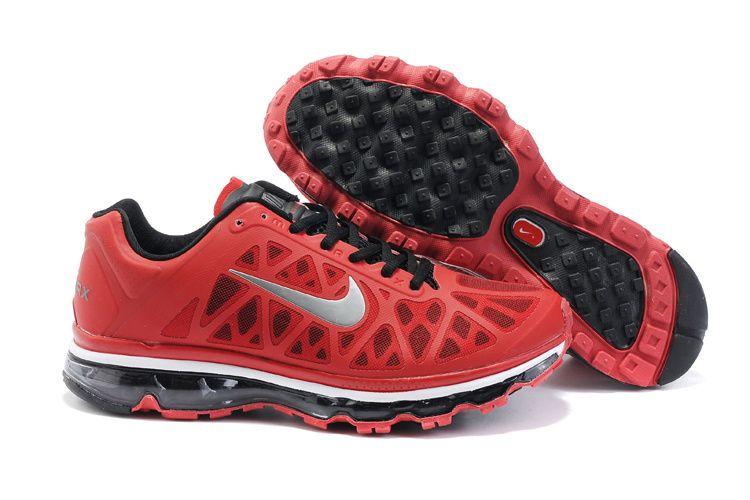 Men Nike Air Max 2011 Red Black NXI455