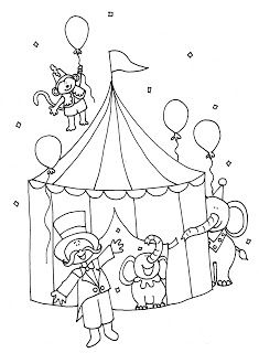 Free Dearie Dolls Digi Stamps Big Top Circus Color And B W Circus Theme Crafts Coloring Pages Circus Crafts