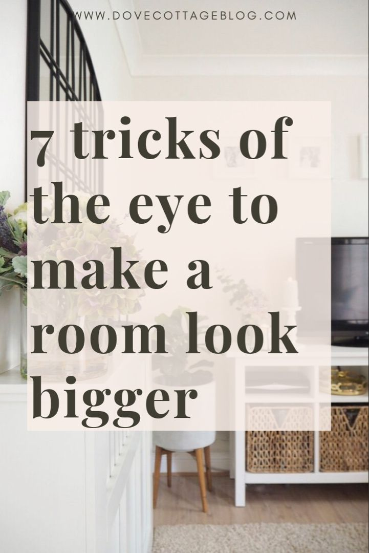 How to trick the eye into making a room or space appear bigger than it is and make the most of the small space you have in your home. Small house living tips including clever storage ideas, lighting tips and how to declutter your home. Make a home feel larger with these seven expert tips #homedecor #smallroomdesign #smallroomfurniture #smallhome #smallhomedecor