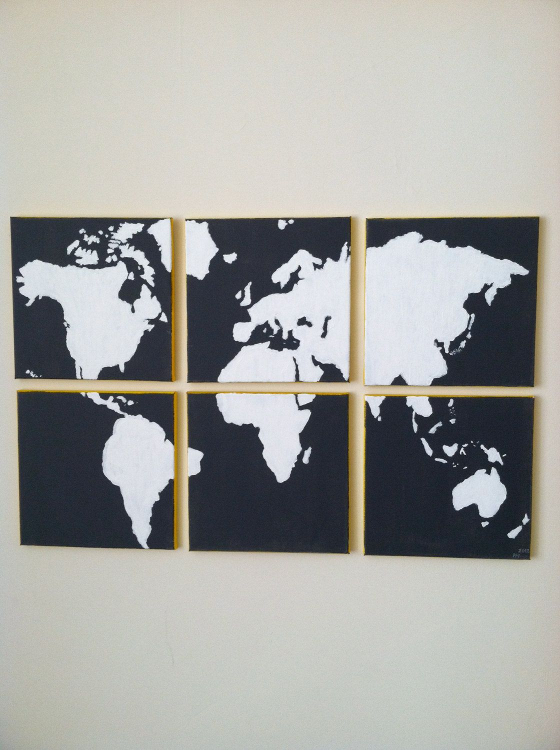 6 panel canvas world map 15000 via etsy obsessed with this one 6 panel canvas world map 15000 via etsy obsessed with this one gumiabroncs Images