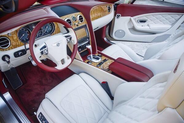 Bentley Continental Gtcspeed Linen Hotspur Red Interior
