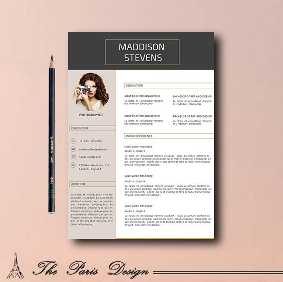 Cv Template, Resume Teacher, Cv Template Word, Creative Cv