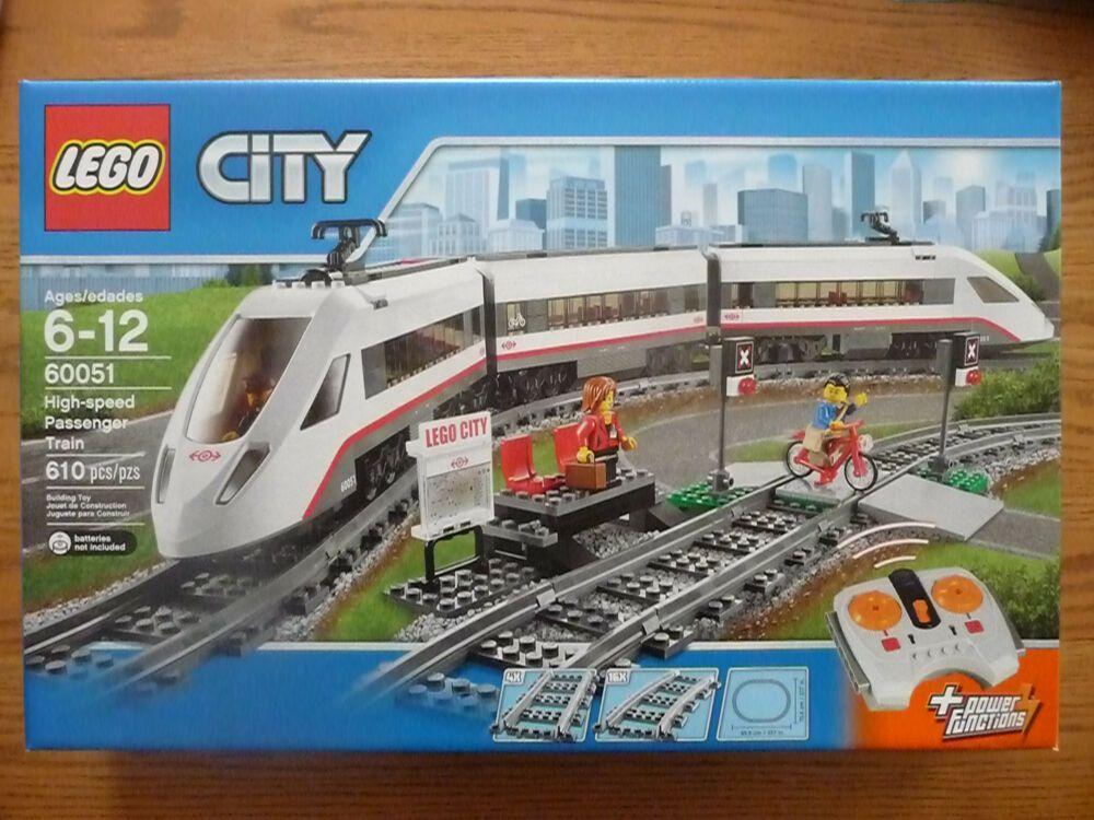 Lego Trains High Speed Passenger Train 60051 New In Sealed Box Lego City Lego City Train Lego City Cargo Train