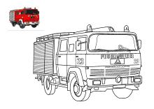 feuerwehrauto zum ausmalen | feuerwehrauto, feuerwehr und ausmalen