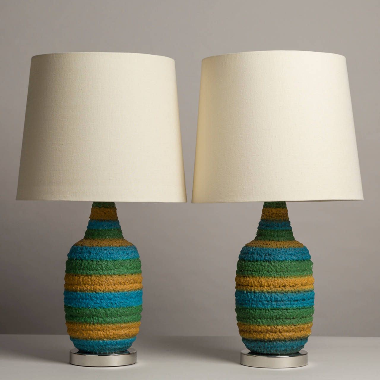A pair of textured blue and green ceramic table lamps 1960s a pair of textured blue and green ceramic table lamps 1960s mozeypictures Image collections
