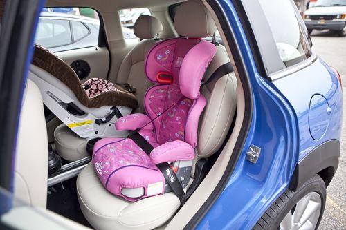Two Carseats In Mini Cooper Motherproof Com Car Seat Check Recap Kickingtires Car Seats Baby Car Seats Mini Cooper S