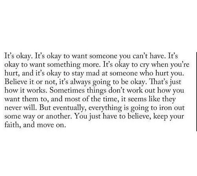 Because everything will be okay