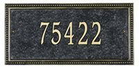 Whitehall Beaded Rectangle One Line Standard Address Plaque | Mailbox Works. $89