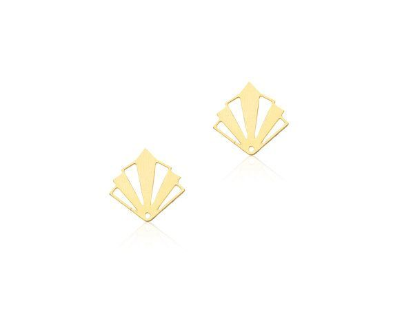 zirconia itm blue stud cut deco evm cushion gold art violet earrings cubic yellow