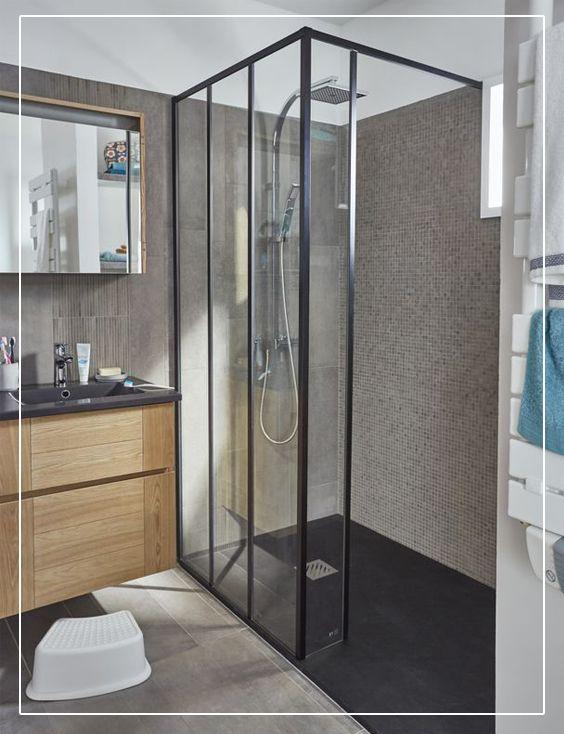paroi de douche cooke lewis zenne 60 cm en 2019 salles de bains salle de bains familiale. Black Bedroom Furniture Sets. Home Design Ideas
