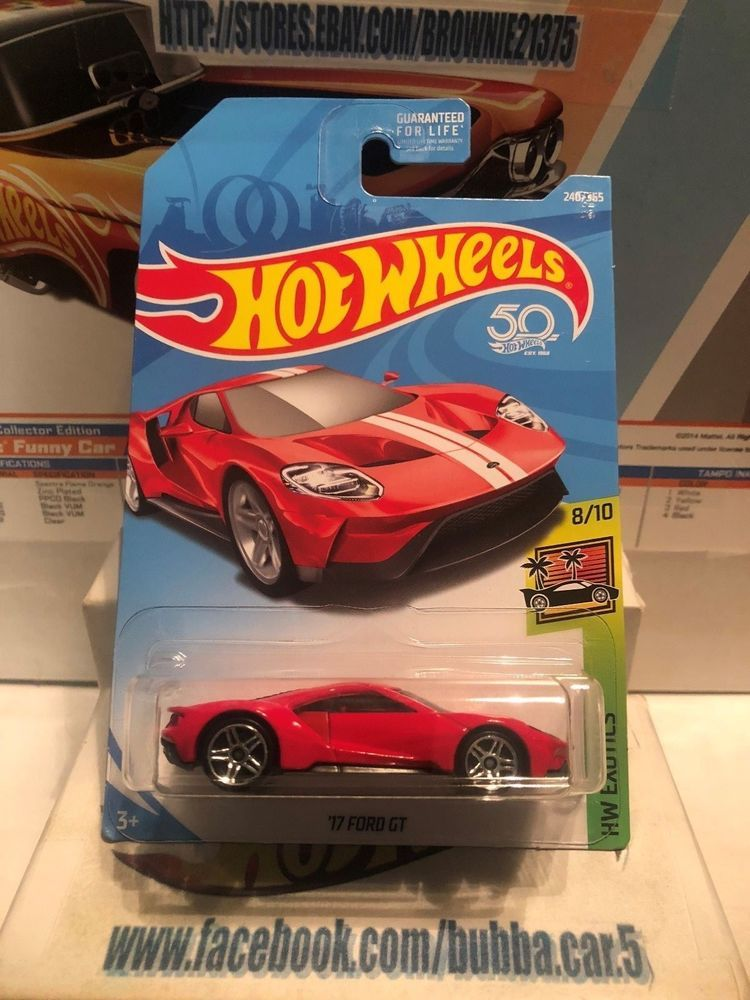 Hot Wheels 17 Ford Gt Hw Exotics 8 10 Red W White Strips