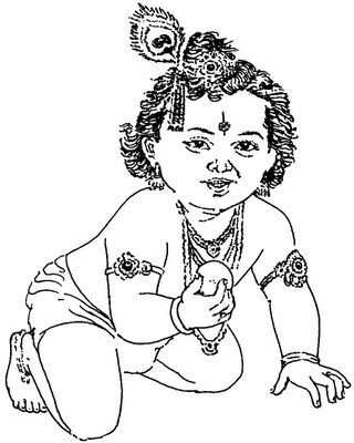 gallery for gt radha krishna drawing for kids