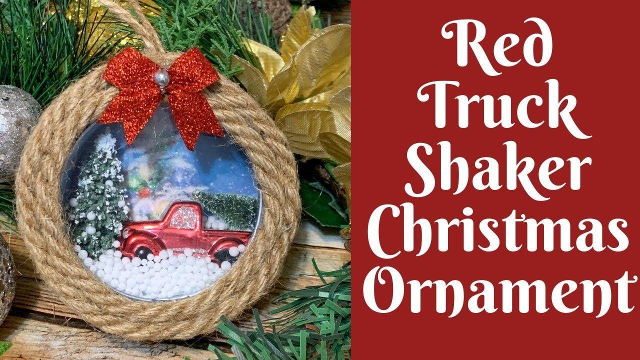 Dollar Tree Christmas Crafts Red Truck Shaker Christmas