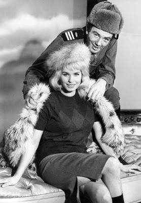 "Vintage Glamour Girls: Senta Berger & Albert Finney in "" The Victors """