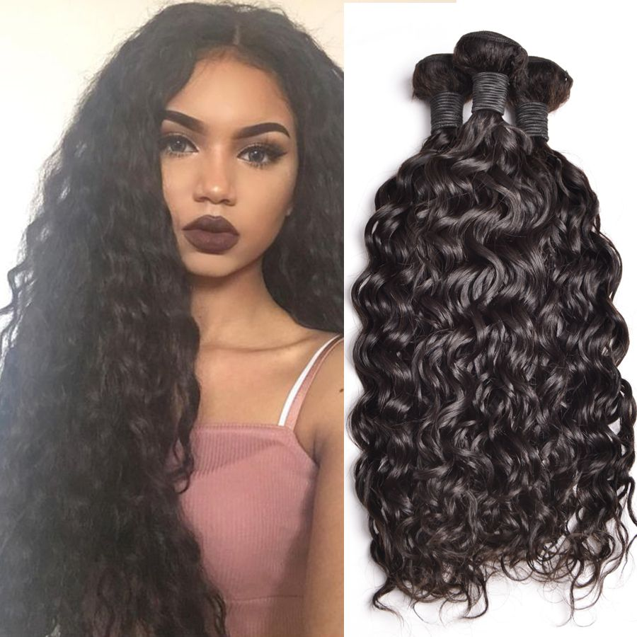 Peruvian Curly Weave Human Hair Bundles Peruvian Curly Hair Wet And