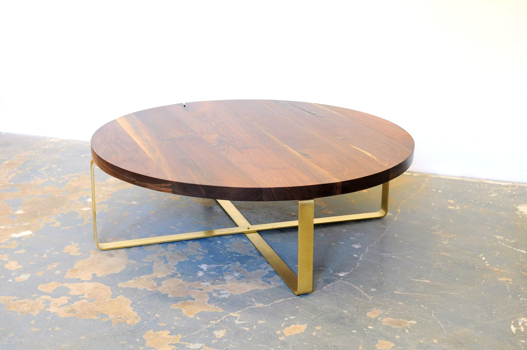 Attractive round brass coffee table with kitchen glamorous brass coffee table round the stylish and