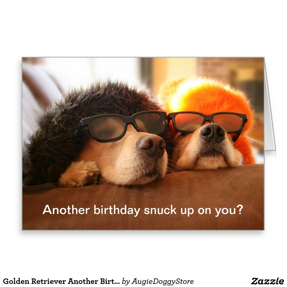 Golden Retriever Another Birthday Greeting Card Birthday Greeting