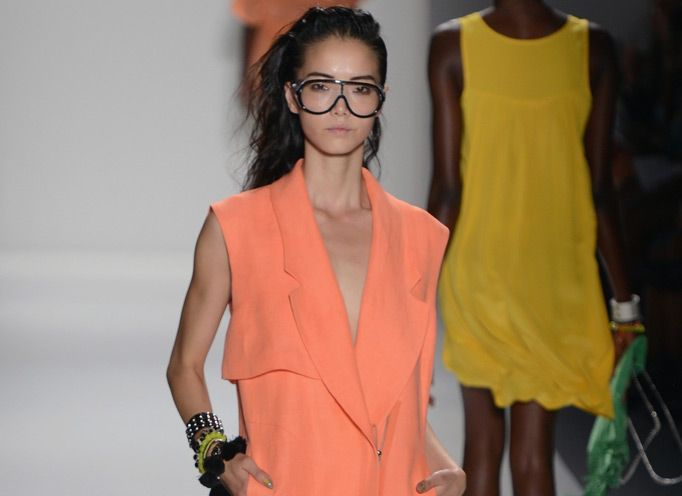 Tracy Reese  Spring 2013 -- the coolest orange creamsicle to ever be...NEED this color.