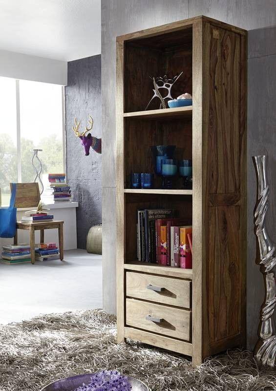 Regal Sheesham 60x40x175 braun geölt BUDDHA #124 Jetzt bestellen - wohnzimmer design braun
