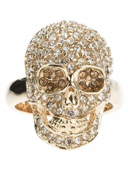 93ed470f7 PHILIPP PLEIN Embellished Skull Ring by PHILIPP PLEIN   Misc Jewelry ...