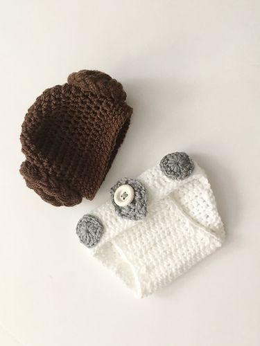 Princess Leia Newborn Set Pattern By Amanda Whiting