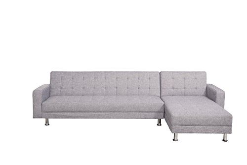 Strange Fat June Barcelona Sofa Bed Sectional With Chaise Light Gray Evergreenethics Interior Chair Design Evergreenethicsorg