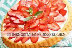 Stinknormaler Erdbeerkuchen: einfach, günstig und schnell gemacht! Biskuitboden für verschiedene Obstkuchen!   www.goldbonsche.com