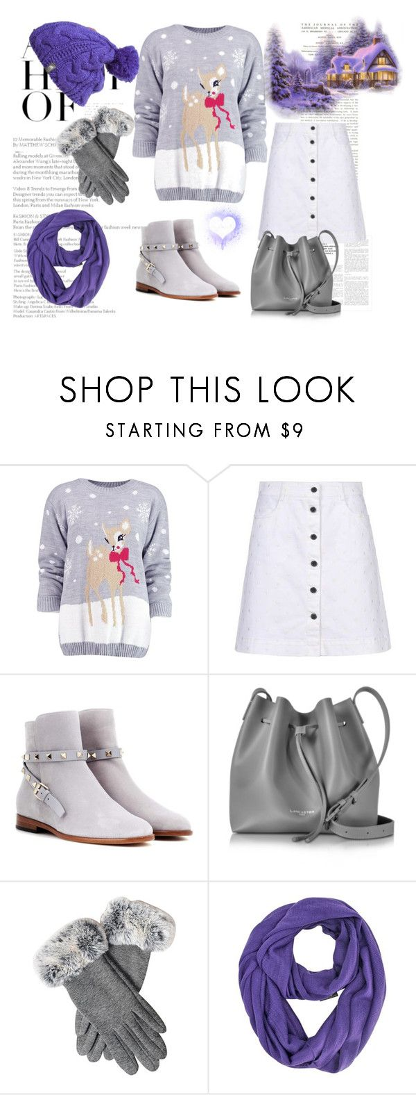 """Winter Sweater"" by jasminka-m ❤ liked on Polyvore featuring Boohoo, STELLA McCARTNEY, Valentino, Lancaster and The North Face"