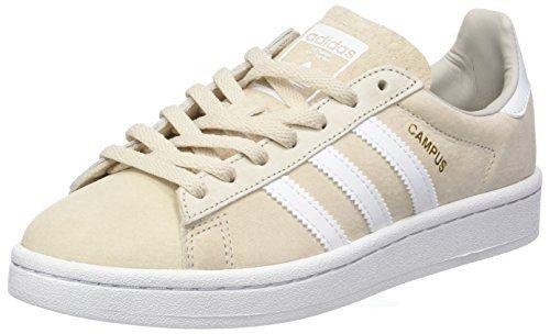 Adidas Hamburg, Zapatillas para Mujer, Beige (Clear Brown/Off White/Gum), 36 EU